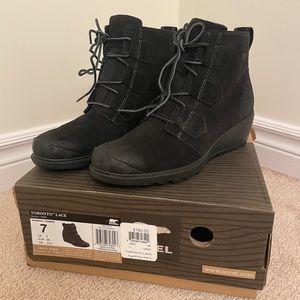 SOREL Toronto Lace Boots (BLACK) US Size 7 W